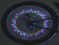 led-podsvetka колеса велосипеда