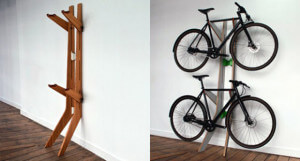 настенна подставка для хранения велосипеда в квартире