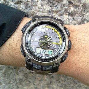 Часы с пульсометром и давлением casio