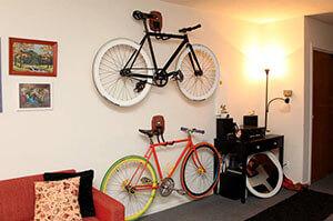 Хранение велосипедов в квартире зимой