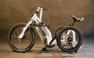 Взрослый трехколесный складной велосипед