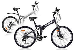 Складной горный велосипед с алюминиевой рамой