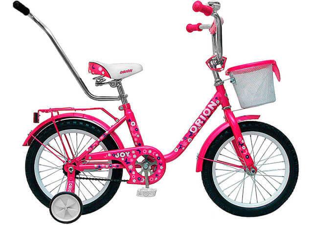 Детский велосипед с дополнительными колесиками Orion Joy