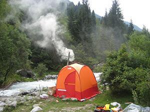 Мобильная палатка для походной бани