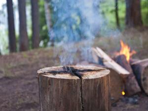 Индейская свеча для приготовления еды или обогрева