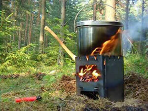 Походная печка на дровах своими руками