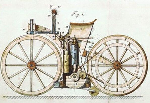 велосипед с бензиновым мотором