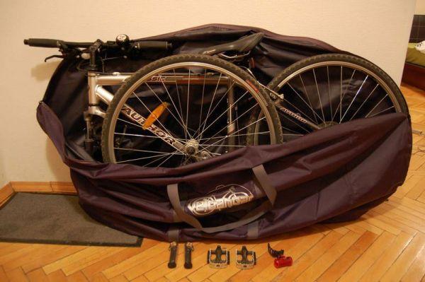 Провоз велосипеда в специальном чехле
